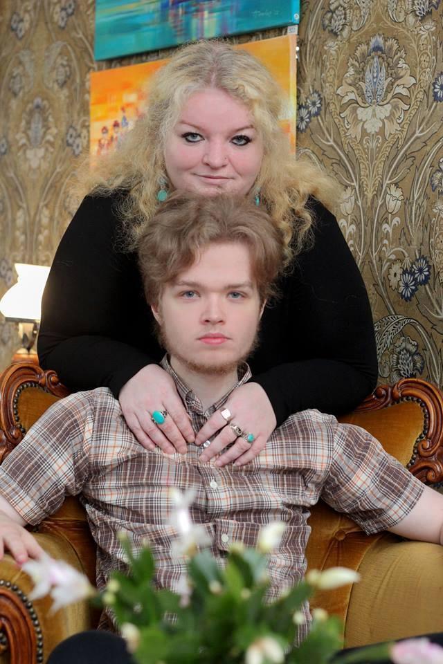 Foto Tiina Azojan Margit Peterson koos poja Germoga